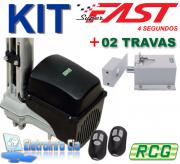 Kit Motor Basculante Taurus Super Fast (4 Segundos) 1.4m + 02 Travas RCG