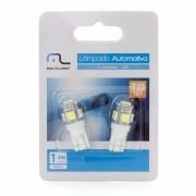 Lâmpada Pingo T10 LED esmagadinha c/02 unidades AU818 Multilaser