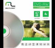 Mídia DVD-RW 4.7GB 4X Regravável Envelope DV064 Multilaser