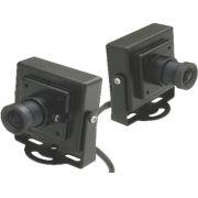 Mini Câmera Quadrada CCD Color 1/4 Multitoc