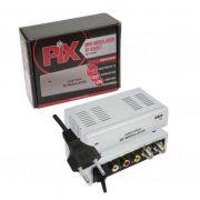 Modulador RF Mini Bi-volt SC 802 Chip Sce Pix