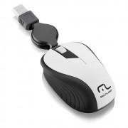 Mouse Retrátil Emborrachado USB Brando MO234 Multilaser