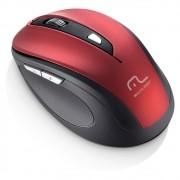 Mouse s/ Fio 2.4 GHZ Comfort 6 Botões Vermelho e Preto MO239 Multilaser