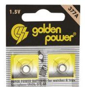 Pilha 377A / LR626 /  377 / G4 Alkalina 1.5 V c/2 Unidades Golden Power