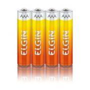 Pilha AAA Zinco / Carvão com 4 unidades Elgin