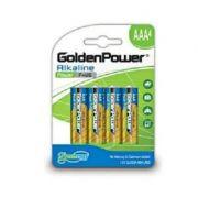 Pilha Alcalina AAA GLR3A C/04 un Golden Power