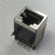 Plug Jack p/ Rede RJ45 Placa Circuito Impresso Blindado 90°