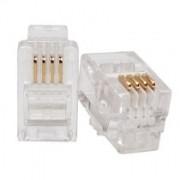 Plug Modular p/ Telefone RJ9 4 vias x 4 contatos (UNITÁRIO)