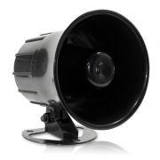 Sirene Corneta 3,5 Pol. 12V Preta 15W MU-09 P/ Alarme Multitoc