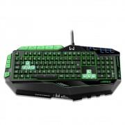 Teclado profissional gamer preto c/ verde led USB TC199 Multilaser