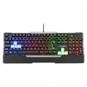 Teclado Warrior Gamer Rainbow USB Sensibilidade Mecânica Led TC208 Multilaser