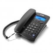 Telefone c/  Identificador de Chamadas, Viva Voz Preto TCF3000 Elgin