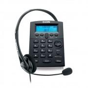Telefone Headset c/ Base Discadora e Identificador Preto HST8000 Elgin
