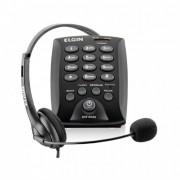 Telefone Headset c/ Base Discadora Preto HST6000 Elgin