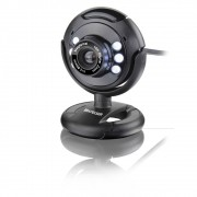 Webcam Plug e Play USB 6MP Nightvision Microfone Preto WC045 Multilaser
