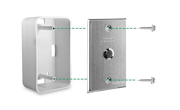 Acionador Abertura Inox Embutir 4X2 BT 5000 Intelbras  - Eletroinfocia