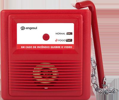 Acionador Manual Endereçável C/Martelo LP20-QB VID S/Sirene*  - Eletroinfocia
