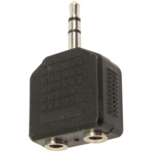 Adaptador 2 P2 Stereo x P2 Stereo Niquelado