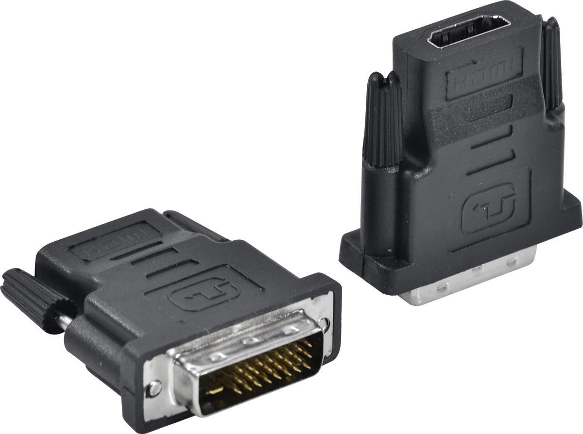 Adaptador DVI 24+1 Macho p/ HDMI Fêmea Vinik