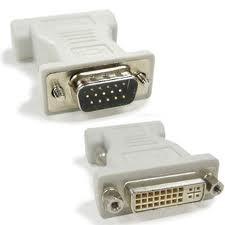 Adaptador DVI-I 24+5 Fêmea x DB15HD VGA Macho