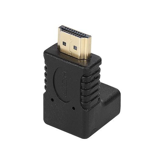 Adaptador HDMI macho p/ HDMI Fêmea 90° Dourado  - Eletroinfocia
