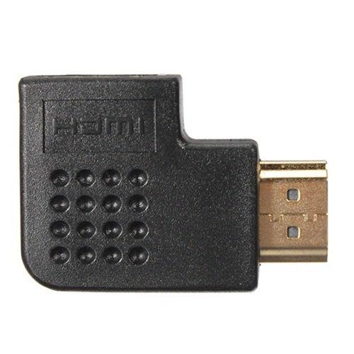 Adaptador HDMI Macho X Femea 90 Lado Angulo 270