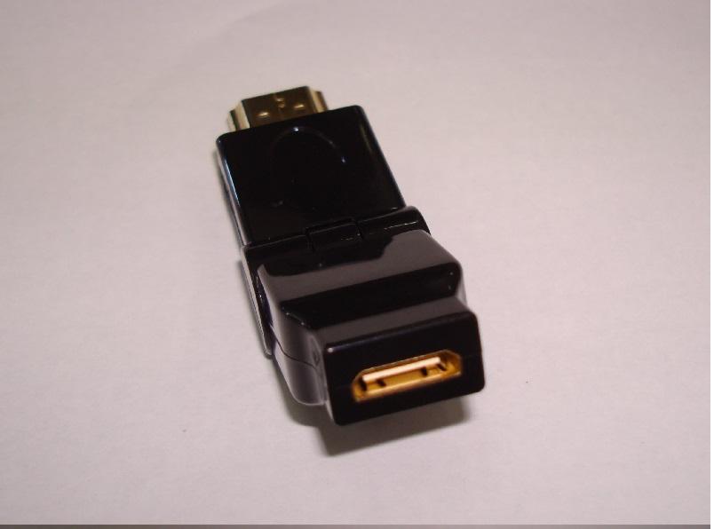 Adaptador HDMI macho x mini HDMI fêmea dourado rotação 180°  - Eletroinfocia