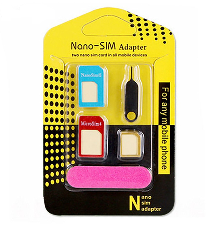 Adaptador Kit Nano / Micro SIM 3X1 + Clip p/ Iphone