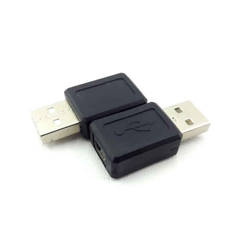 Adaptador USB Macho A X Mini USB Fêmea 5 Pinos