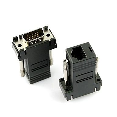 Adaptador VGA Macho p/ RJ45 Fêmea CAT.5 / CAT.6 XT030 (unidade)