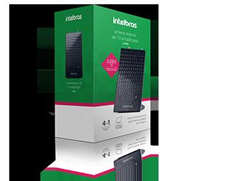 Antena de TV Interna Digital Ampl.FM/UHF/HDTV AI 2100 Intelbras  - Eletroinfocia