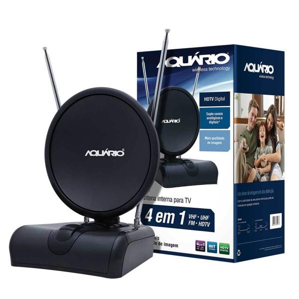 Antena Interna TV-500 4 em 1 HDTV/VHF/UHF/ AQUÁRIO  - Eletroinfocia