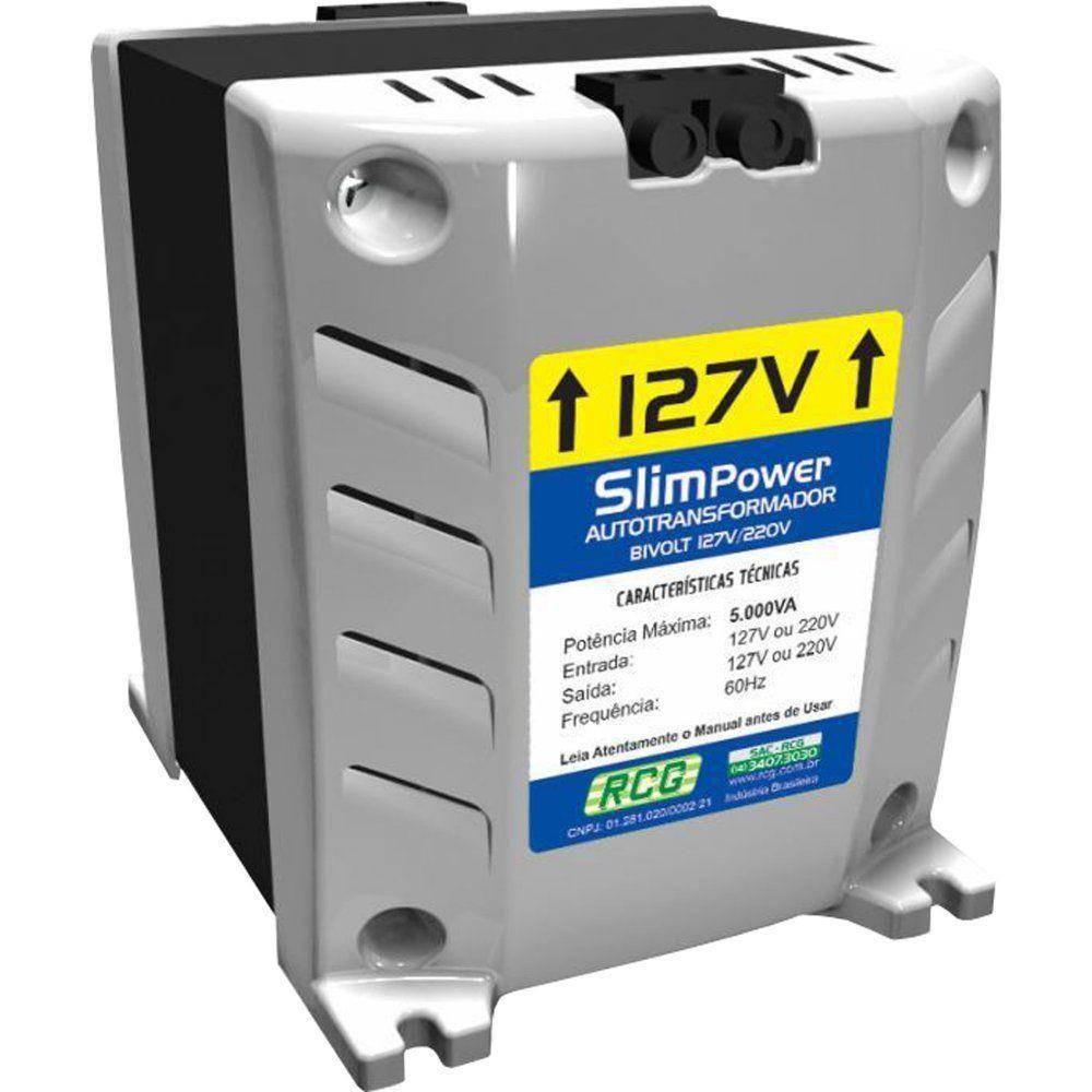 Auto Transformador / Inversor Slim 5000VA 127/220v RCG  - Eletroinfocia