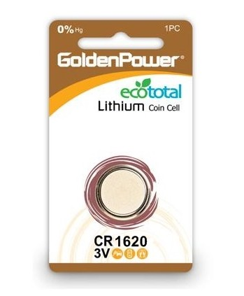 Bateria de Litio 3V CR1620 Golden Power
