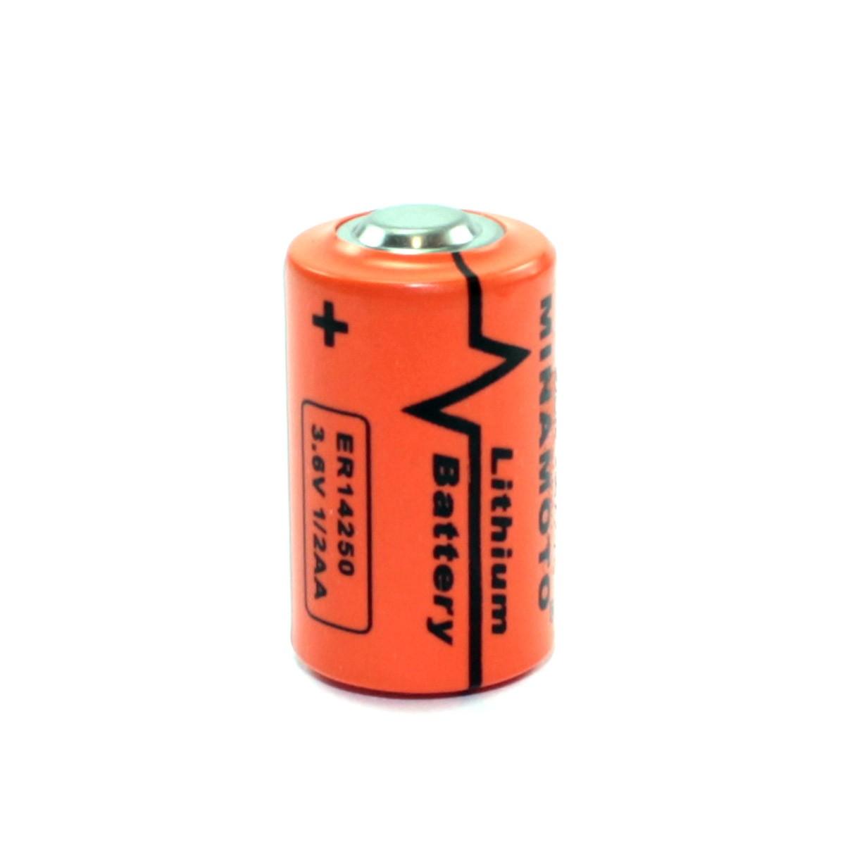 Bateria Não Recarregável Lithium 1/2AA 3,6v 1200mah ER 14250 Minamoto