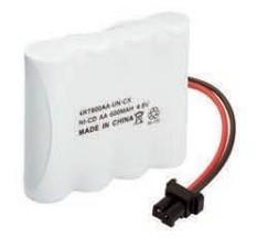 Bateria p/ telefone recarregável 4XAA 4,8V 600mAh c/  conector universal Rontek