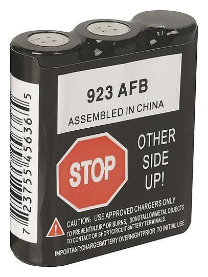 Bateria P/ rádio comunicação NiCd 7,2V 600mAh   - Eletroinfocia