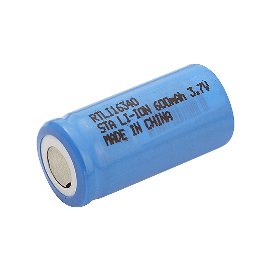 Bateria recarregavel 3,6V 600MAH Lithium 16X34MM 16340 RONTEK