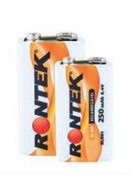 Bateria Recarregável 9v / 8,4V 250mAh Ni-MH 6LR61 Rontek