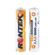 Bateria Recarregável AAA 1,2V 1000mAh (11x45mm) c/ 02 UN Rontek