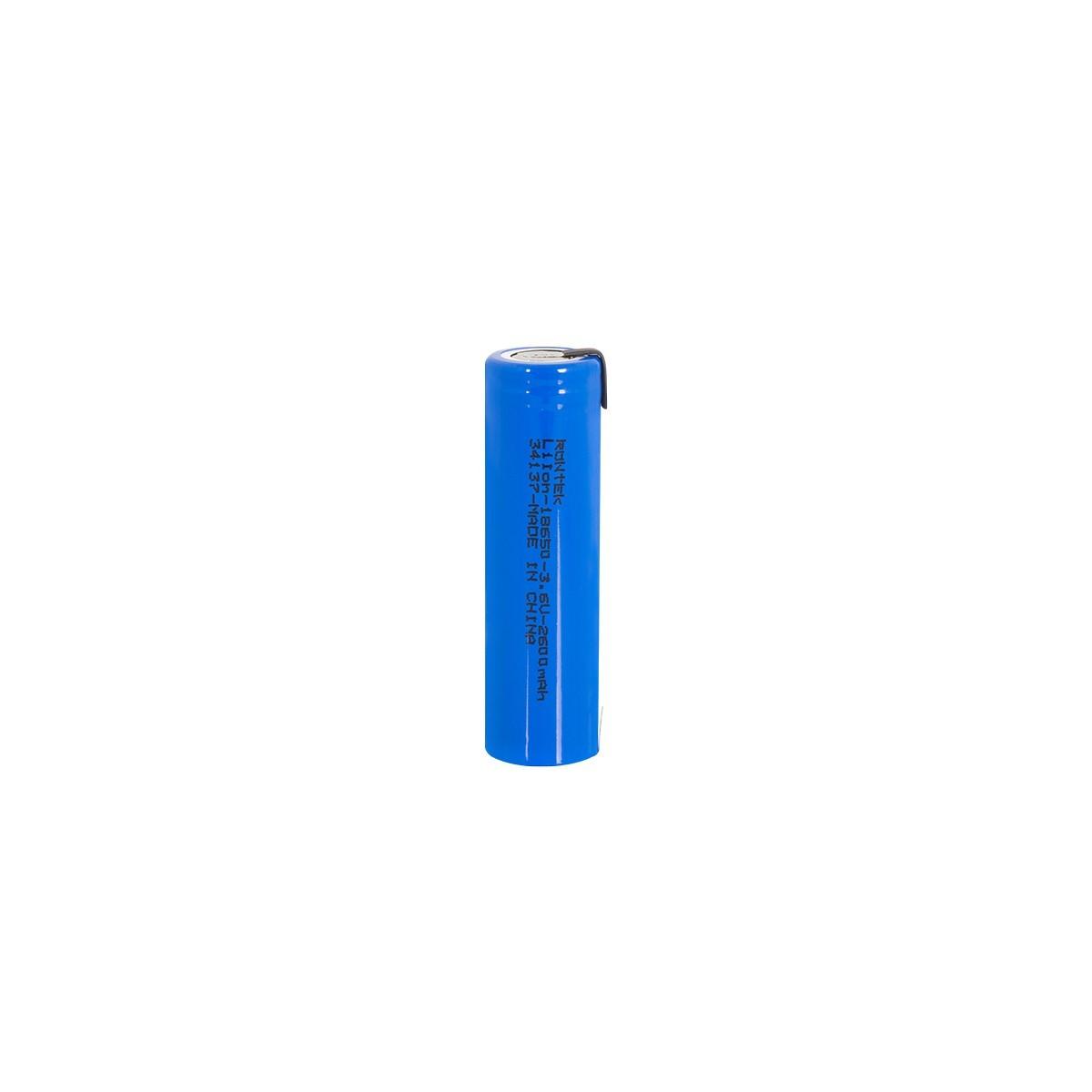 Bateria Recarregavel C/ Terminal LI-ION 18650 3.7V 2600MH Rontek