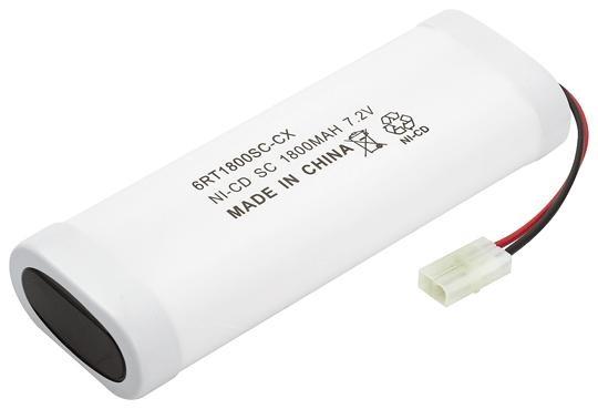 Bateria Recarregável de NiMh 7,2V 1800mAh 6C Rontek