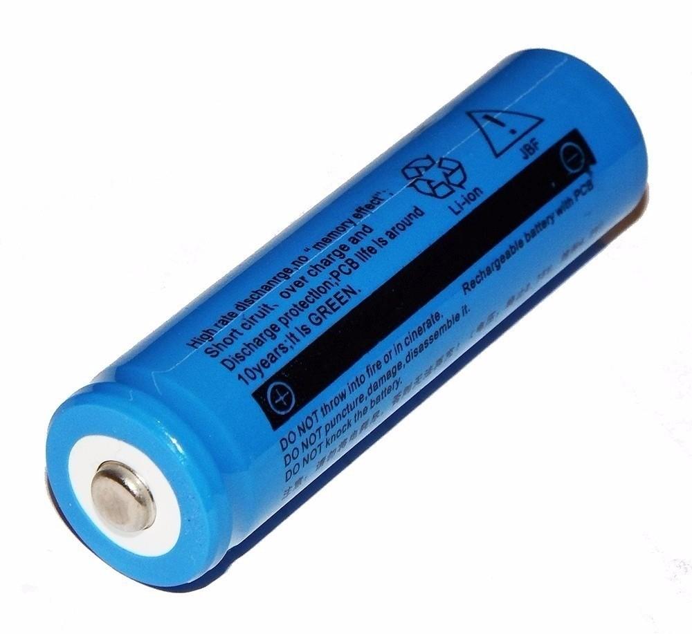 Bateria recarregável Li-ion 18650 3.7V 2600mAh  - Eletroinfocia