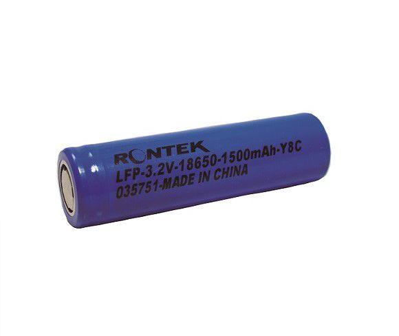 Bateria Recarregável Li Ion 3,2V 1500mAh 18650 (18X65mm) 3C Rontek  - Eletroinfocia