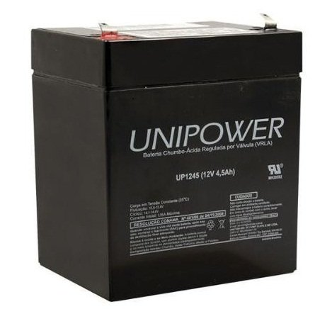 Bateria Selada 12V 4,5AH Unipower - UP1245