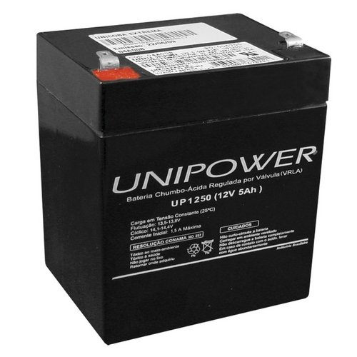 Bateria Selada 12V 5,0AH UP1250 Unipower