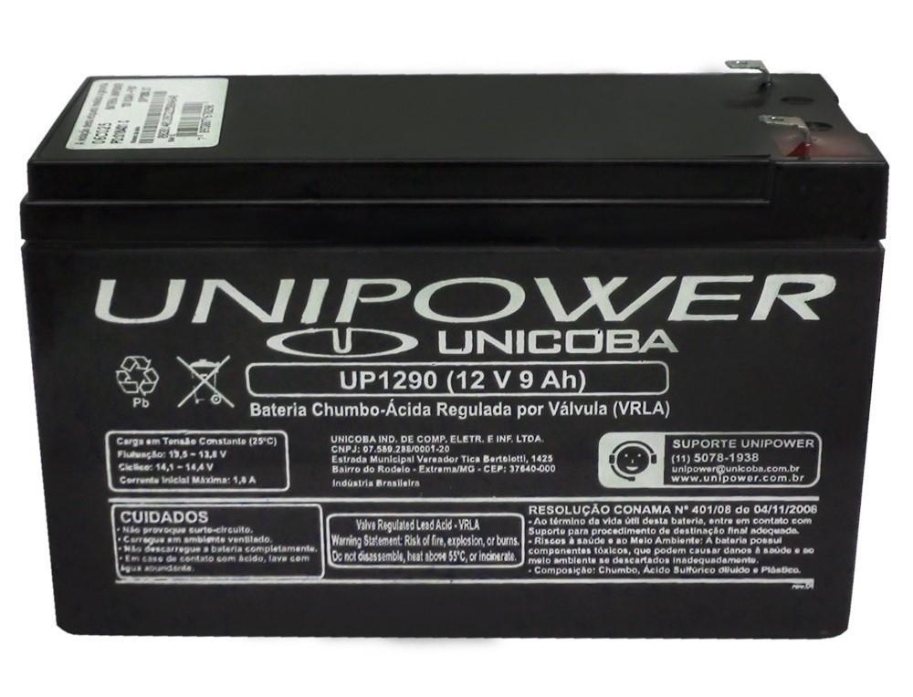 Bateria Selada 12V 9,0AH UP1290 Unipower