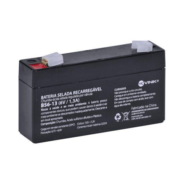 Bateria Selada 6V 1,3A VLCA BS6-13 Vinik