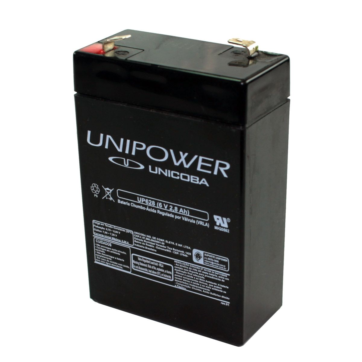 Bateria Selada 6V 2,8AH - UP628 Unipower