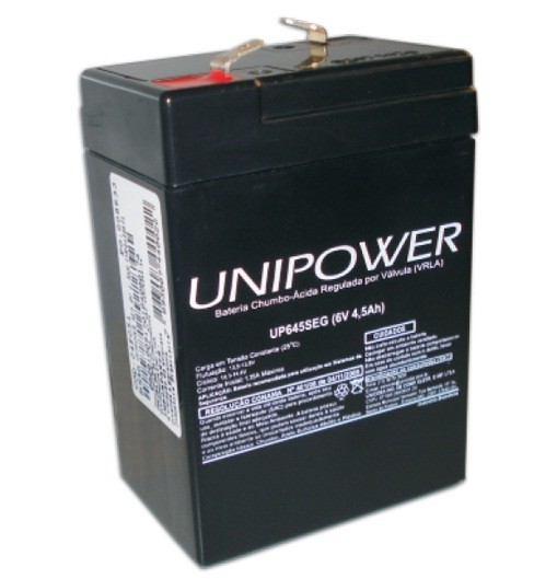Bateria Selada 6V 4,5AH UP645SEG Unipower